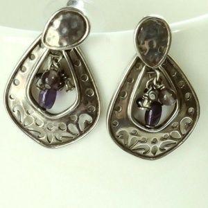 Silpada Sterling Silver Amethyst Post Earrings